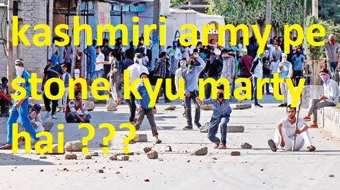 why kashmiri throw stone on army ?