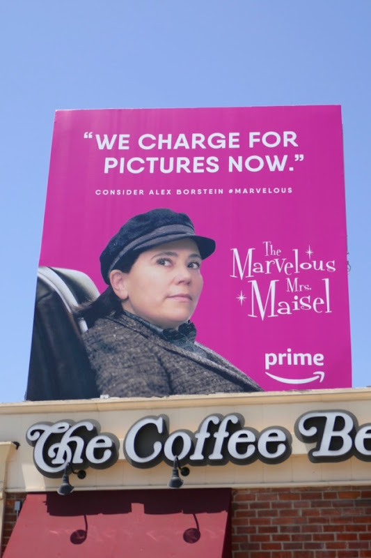 Mrs Maisel charge for pictures now Emmy FYC billboard