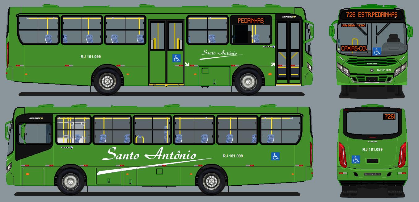 Desenhos De Onibus Do Rj Transportes Santo Antonio