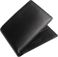 black, leather men's wallet image
