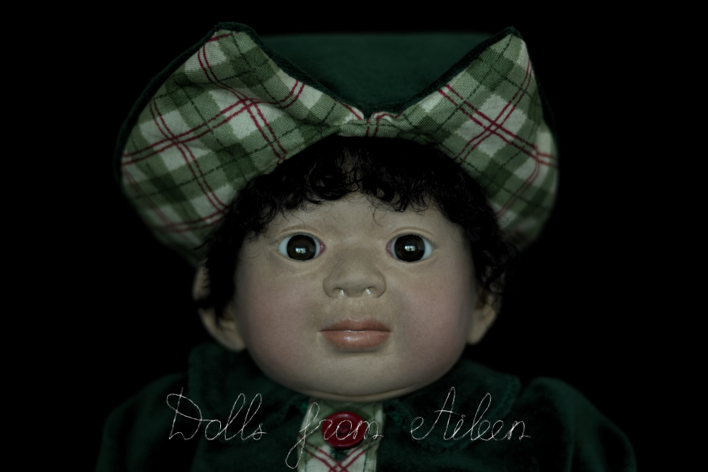 ooak Christmas elf art doll's face