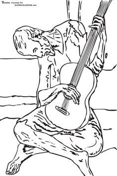 Arte para nios Dibujos de Pablo Picasso para pintar y colorear