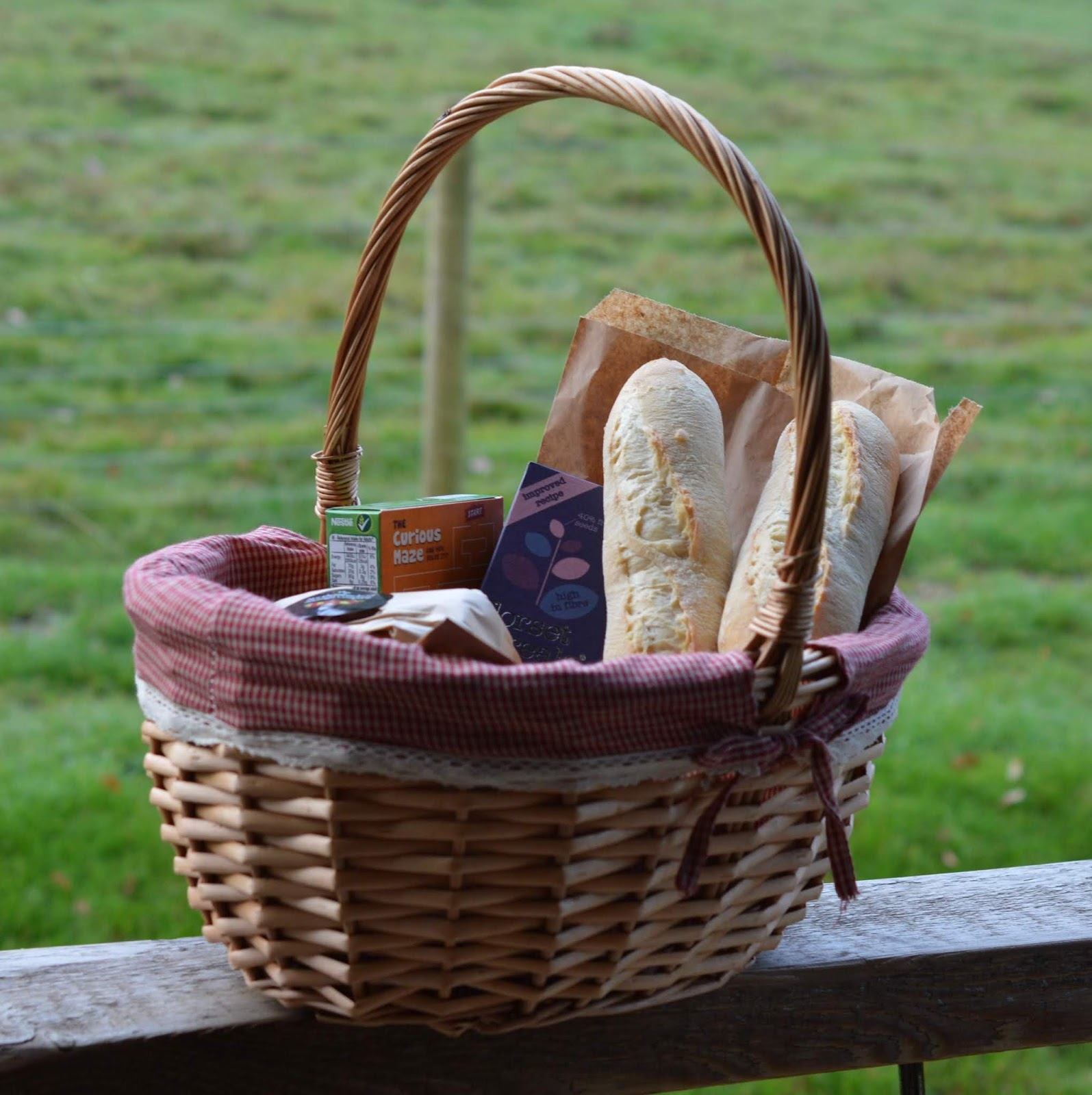 Experience Northumberland's Dark Skies with a Stay at Hesleyside Huts  - family breakfast basket