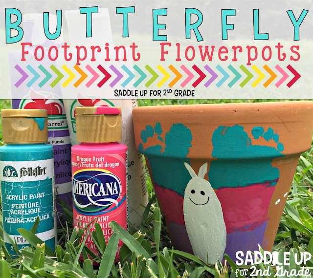 These butterfly footprint flowerpots are so fun to make with your little one. They make great gifts for Mother's Day or to give to a loved one for their birthday. You can read all about how to make them on our blog!