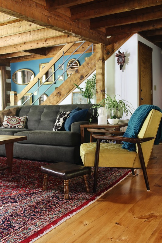 log-cabin-lodge-global-midcentury-antique-gold-mirror-wall-chair