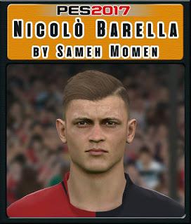 PES 2017 Faces Nicolò Barella by Sameh Momen