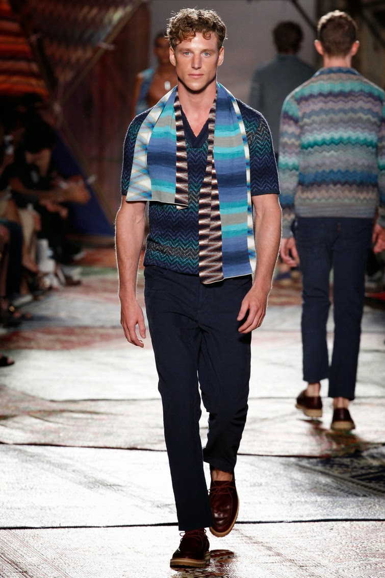 Misoni SpringSummer 2015  Milan Fashion Week  Male Fashion Trends