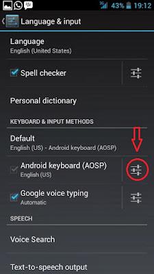 Cara Mematikan Suara Keyboard Android jelly bean,kitkat