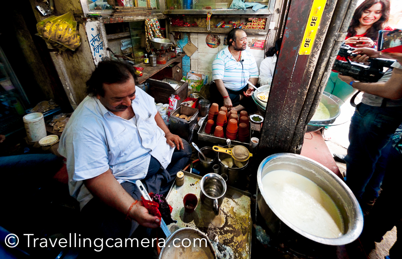 They keep making tea whole day and also sell rabri at this shop. Tea is well boiled and they know it well from experience. The milk also keeps boiling on the other stove.