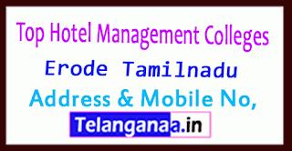Top Hotel Management Colleges in Erode Tamilnadu