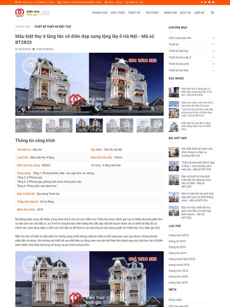 Template Blogspot kiến trúc nội thất đẹp chuẩn seo - Ảnh 2