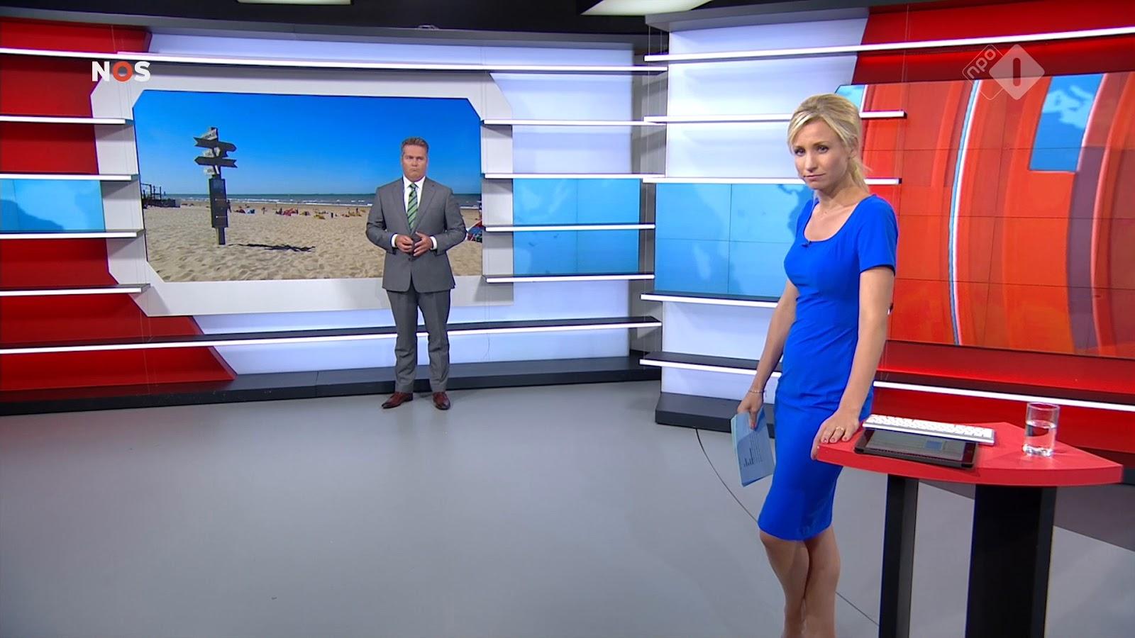 Dionne stax dionne stax presenteert nos journaal tijdelijk vanuit andere studio tijdens verbouwing for Van de tv