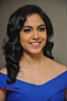 Actress Ritu Varma Pos in Blue Short Dress at Keshava Telugu Movie Audio Launch .COM 0070.jpg