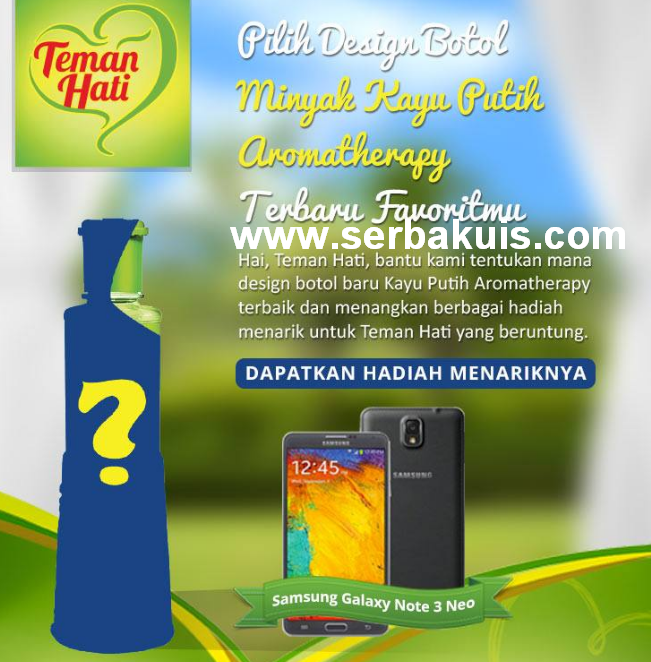 Kuis Vote Desain Botol Berhadiah SAMSUNG Galaxy Note 3 Neo