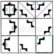 Pembahasan Soal Figural No. 42 TKPA SBMPTN 2016 Kode Naskah 321, pola gambar: pemotongan objek