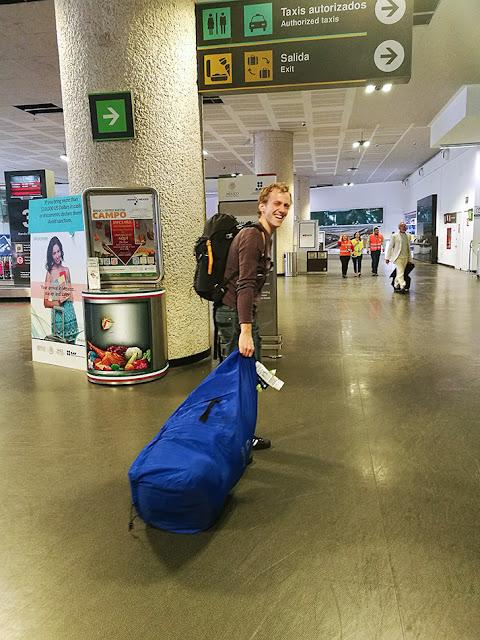 prevzem prtljage v Mehiki