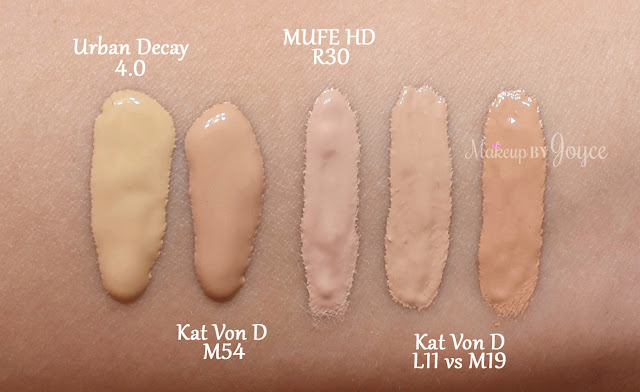 Kat Von D Lock It Concealer Creme Swatches Light 11 Medium 19