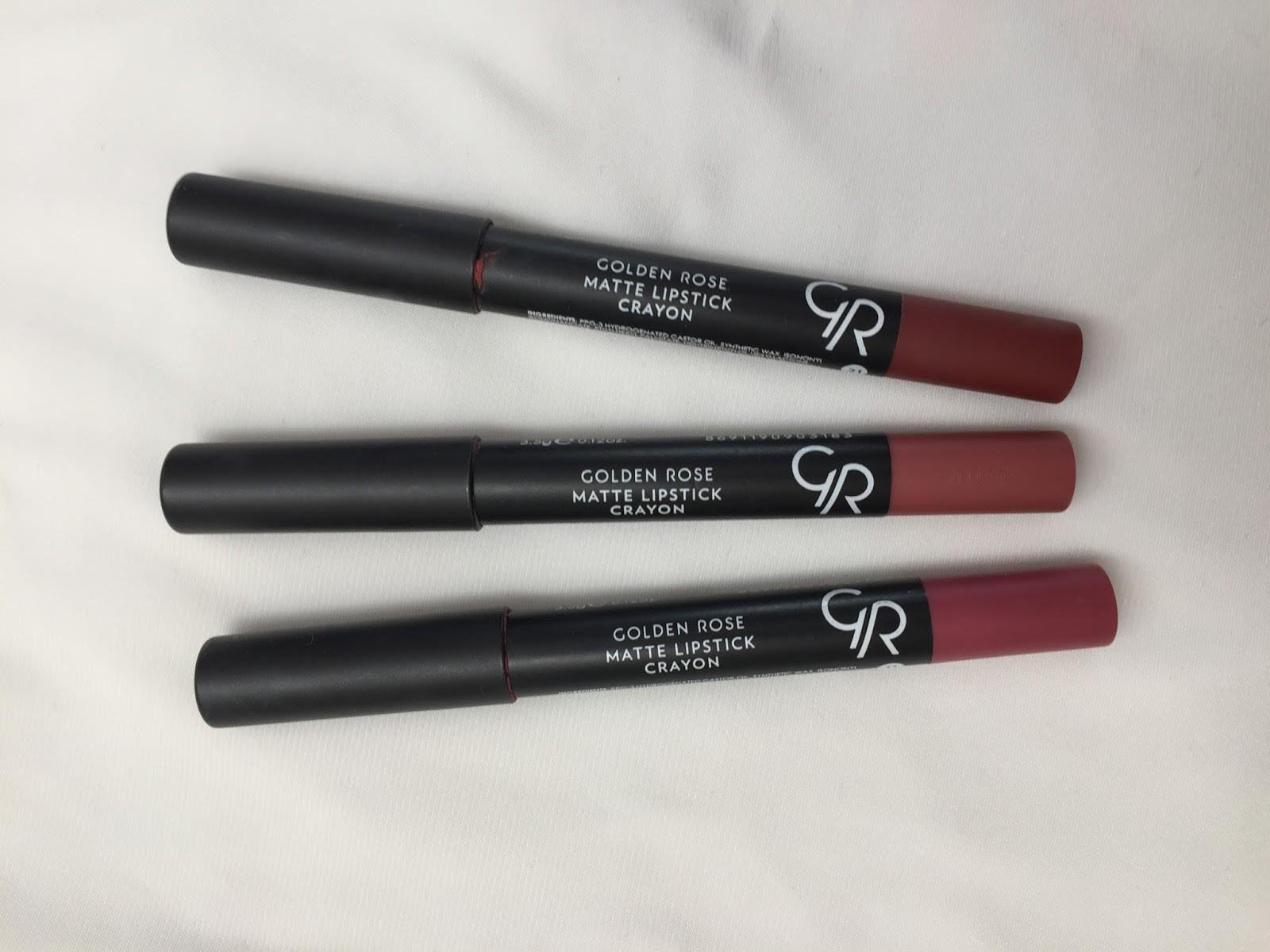 Golden Rose Matte Lipstick Crayon Kalem Ruj Diaryofmeri