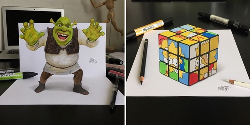 00-Stephan-Moity-2D-Drawings-Optical-Illusions-made-to-Look-3D-www-designstack-co