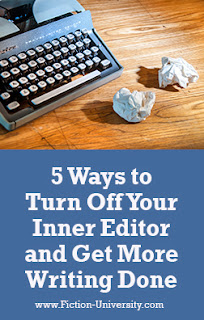 inner editor, get more writing done, productivity
