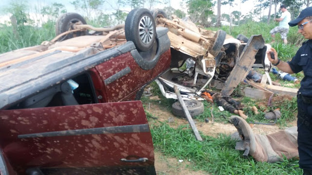 Sobe para cinco o número de mortos no trágico acidente da linha 128 em Ji-Paraná