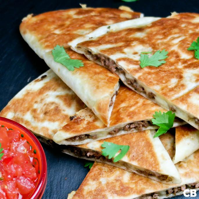 Quesadillas met Mexicaans gehakt