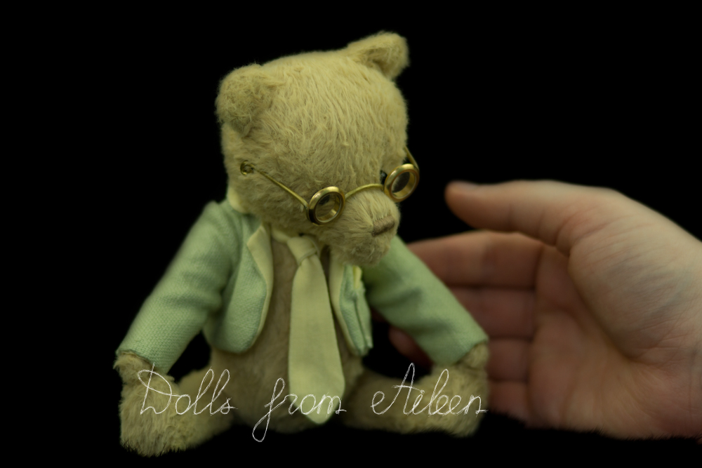 ooak artist teddy bear with human hand