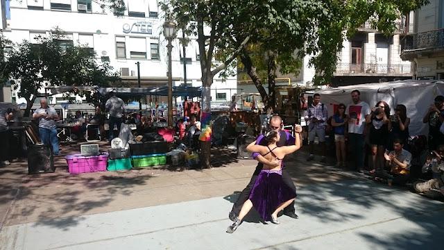 Assistir tango na Feira de San Telmo