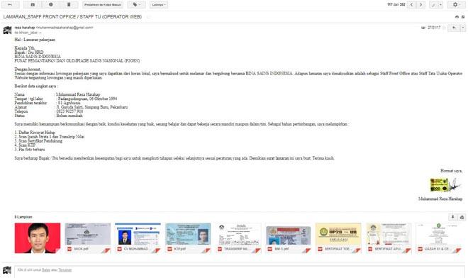 Cara Mengirim Surat Lamaran Kerja Via Email Secara Online Yang