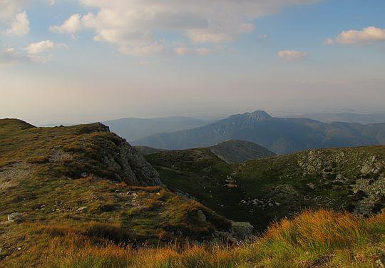 Widok z Salatyńskiego Wierchu w stronę Osobitej.