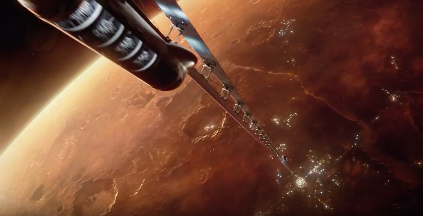 Mars space elevator by Boeing
