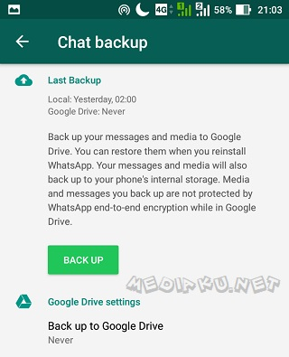 Cara Backup Chat Di WhatsApp
