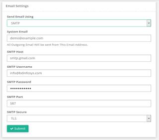 sistema billing email