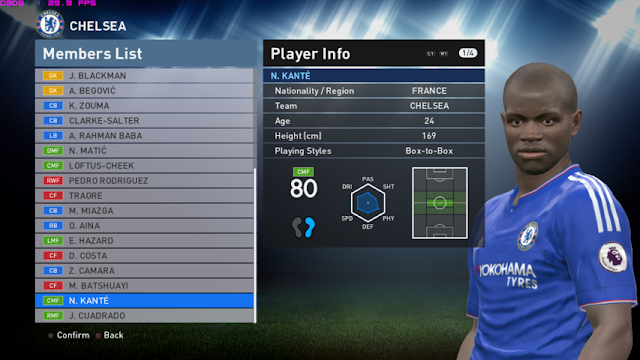 PES 2016 Transfers, New Players Stats, Home Ground & Rival Teams PTE Patch 6.0