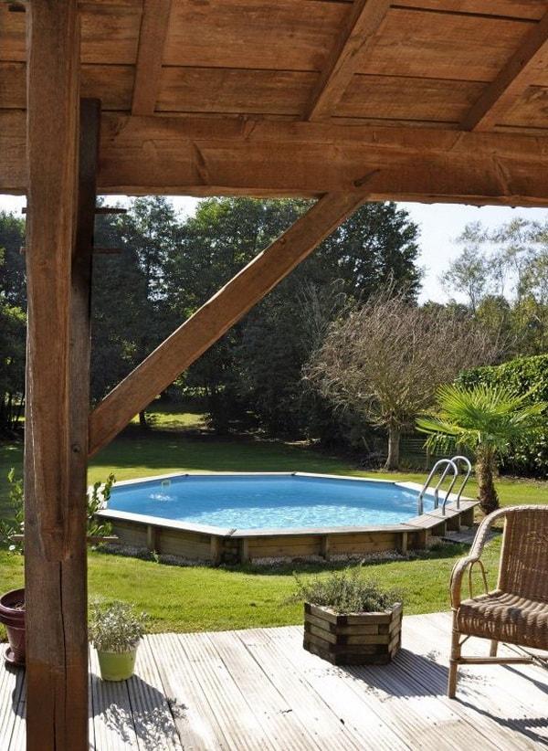 Marzua piscinas de madera for Madera para piscinas