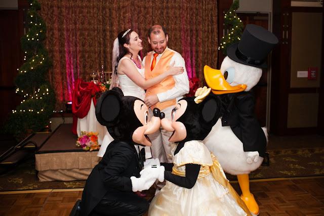 Disneyland Wedding - Mickey, Minnie, and Donald {Root Photography}