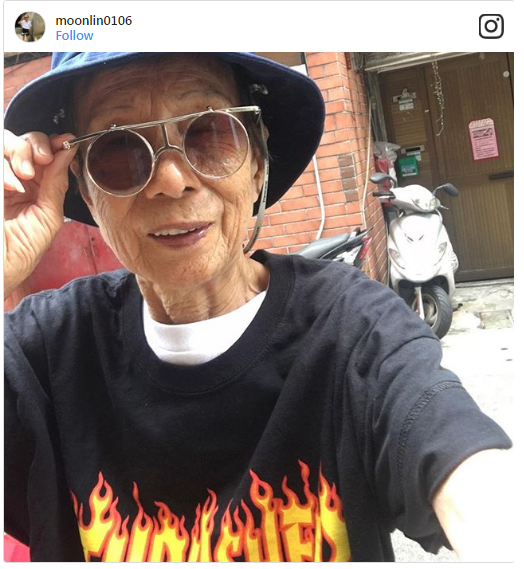 There's no age or time to look fashionable. And this 88-year-old lady, who goes by the online name Moon Lin, just proved it again.