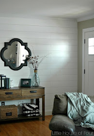 completed wood plank wall
