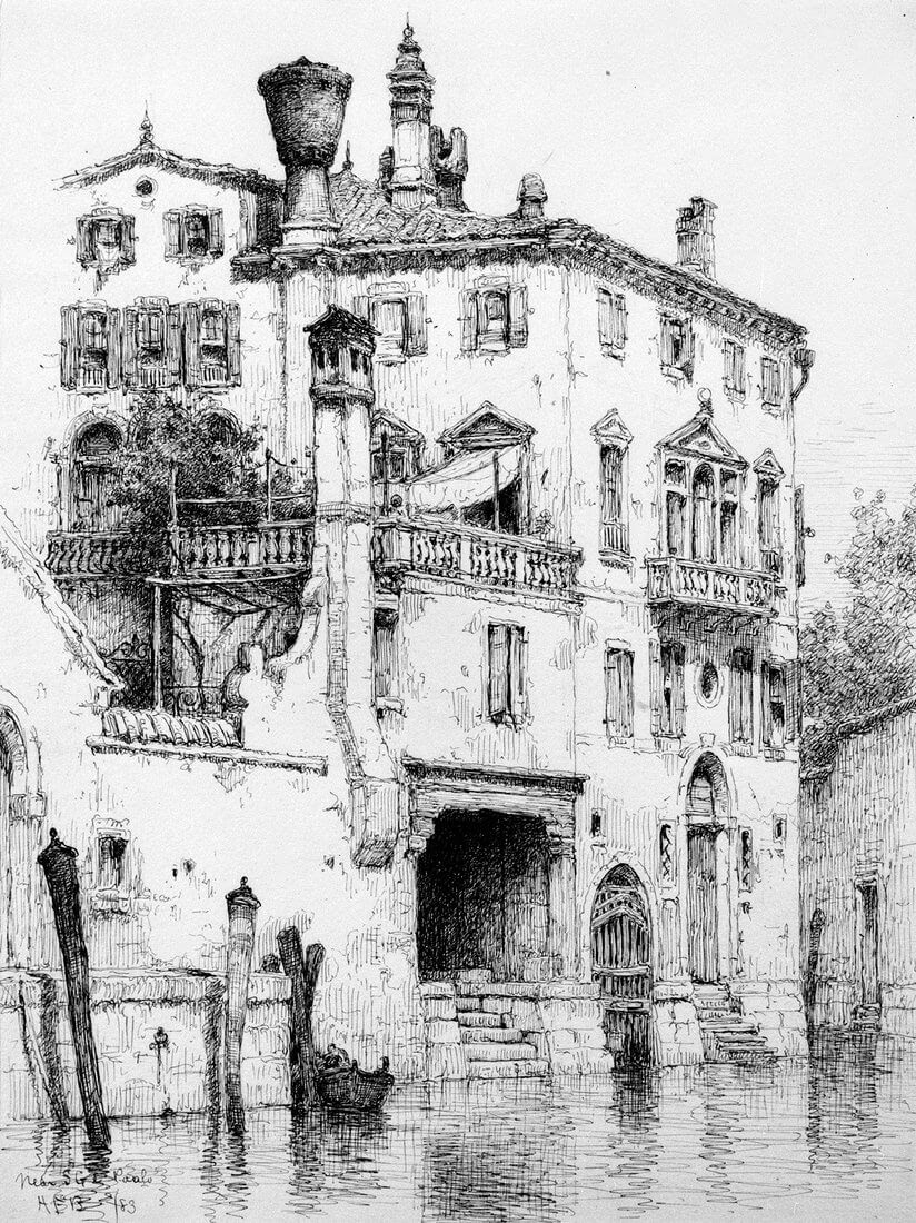 01-SS-Giovanni-Venice-1883-Andrew-F-Bunner-Venice-Urban-Architectural-Drawings-from-the-1800s-www-designstack-co