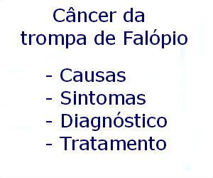 Câncer da trompa de Falópio causas sintomas diagnóstico tratamento prevenção riscos complicações