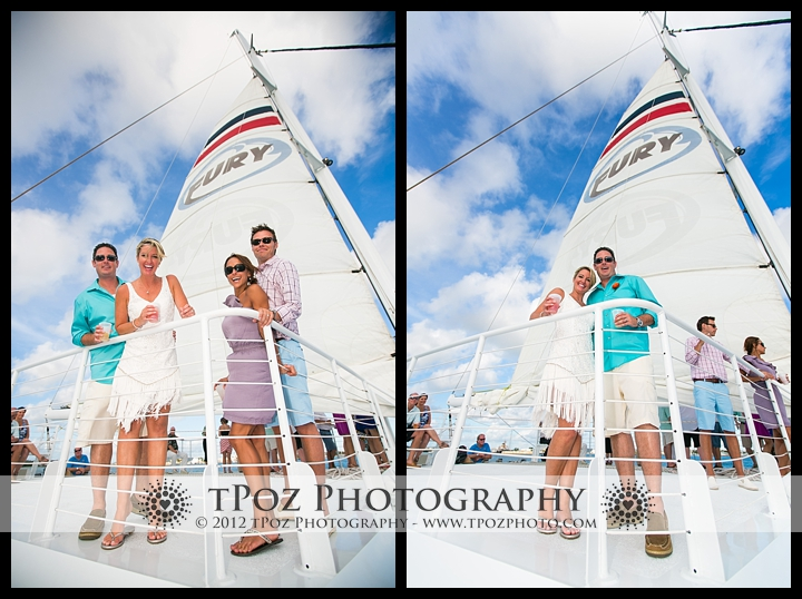 Key West Destination Wedding Fury Catamaran Sunset Cruise Wedding Reception