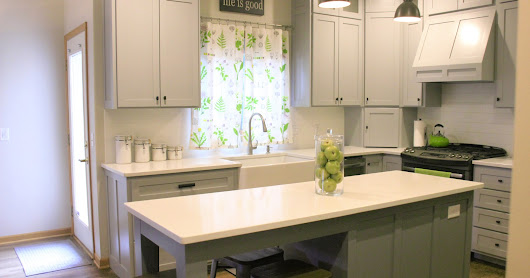 Before & After: A Gray, White & Bright Kitchen