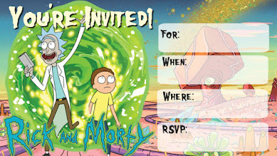 Rick and Morty free printable invitations