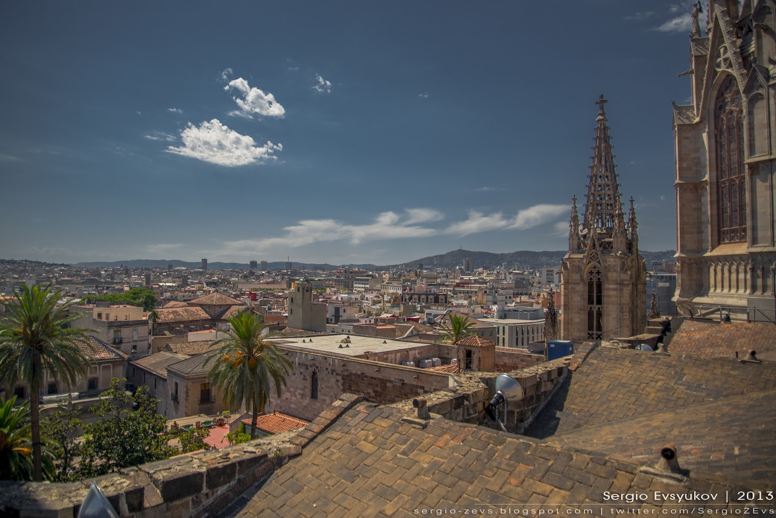 Panorama of Barcelona's Gothic Quarter