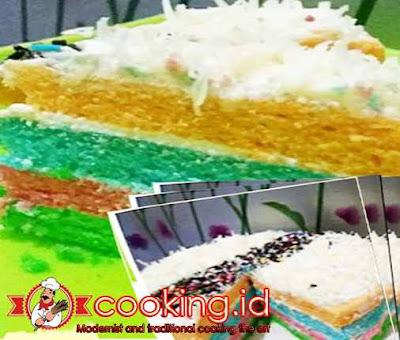 Cara Membuat Rainbow Cake Kukus Lembut