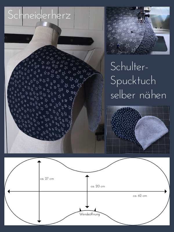 Pin Tutorial Schulter-Spucktuch nähen
