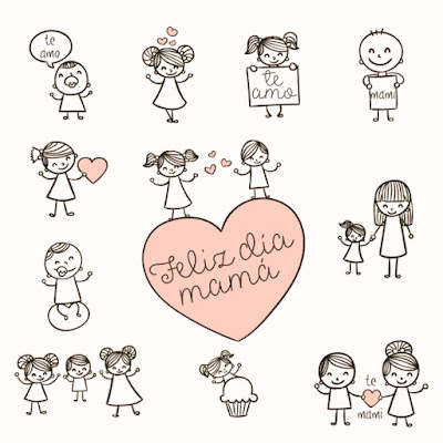 tarjeta imagen dia de la madre niños