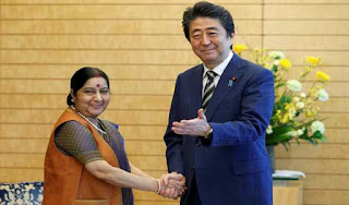 sushma-swaraj-calls-on-japanese-pm-shinzo-abe