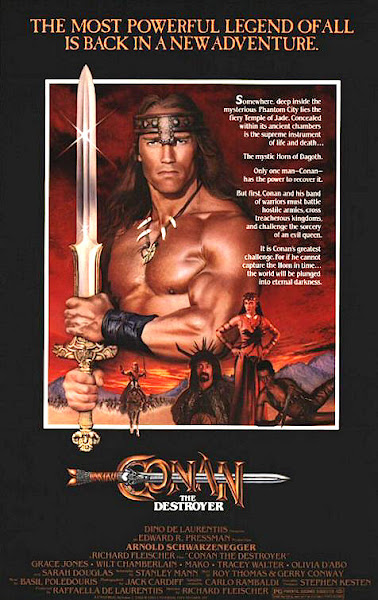 Poster Of Conan The Destroyer 1984 English 720p BRRip Full Movie Download