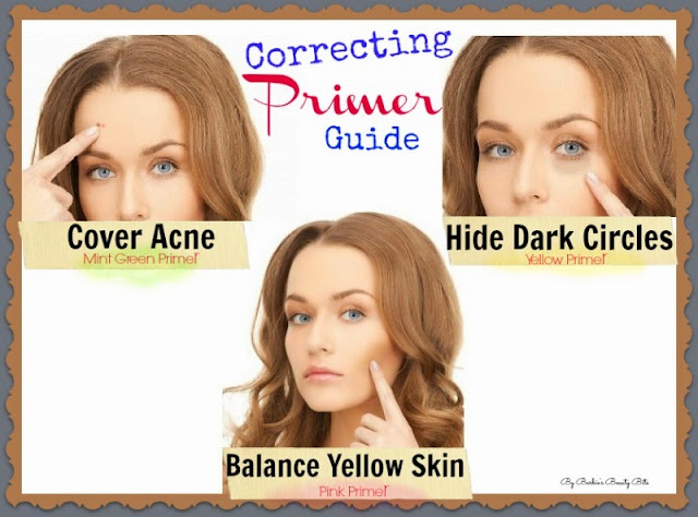 How to Hide Face Discoloration & blemishes with color correcting primer, by Barbie's Beauty Bits